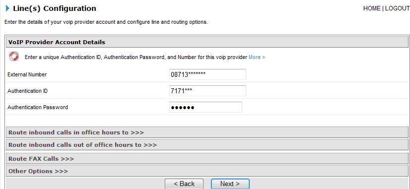 3CX IP PBX Configuration