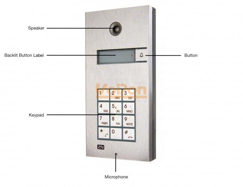 2n Helios Ip Vario 1 Button Keypad Door Entry Panel 9137131ke