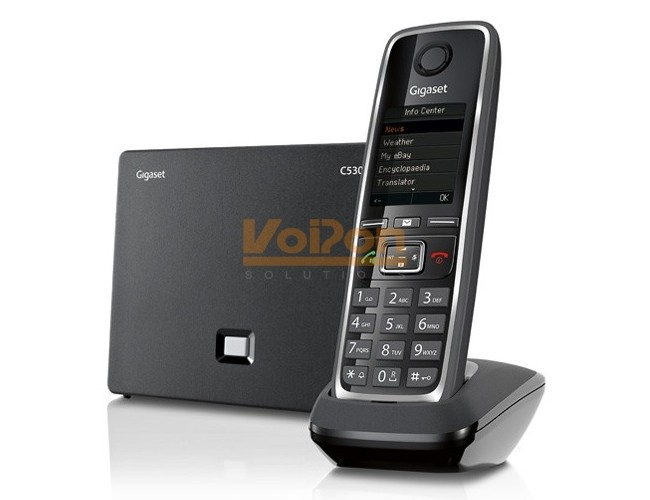 gigaset c530 handset dect base station system. Black Bedroom Furniture Sets. Home Design Ideas