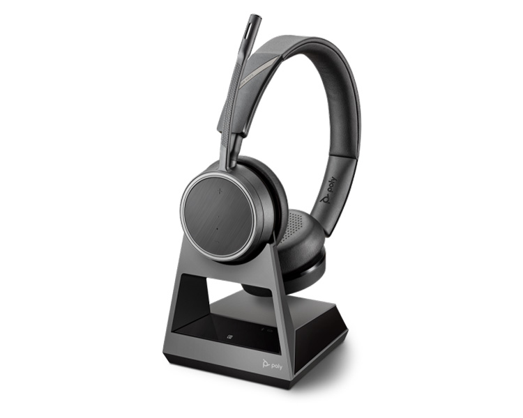 Plantronics Poly Voyager 4220 Office 1 Way Base Standard Charge Cable Binaural Headset 212721 05