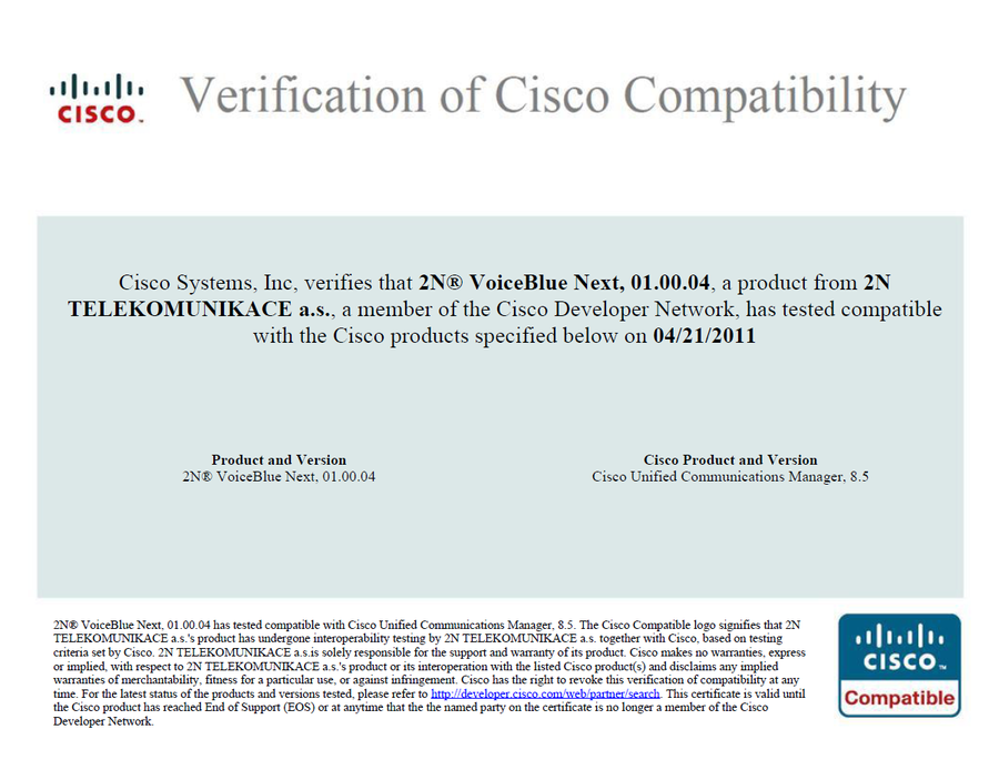2n Voiceblue Next Voip Gateway Gains Cisco Certification Voip