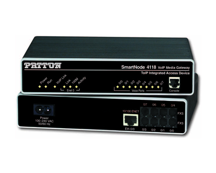Patton SmartNode SN4112/JO/EUI 2 port FXO Analogue Gateway