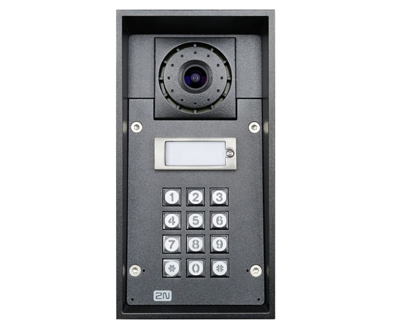 2N Helios IP Force with HD Camera - 1 Button & Keypad with 10W Speaker (9151101CHKW)