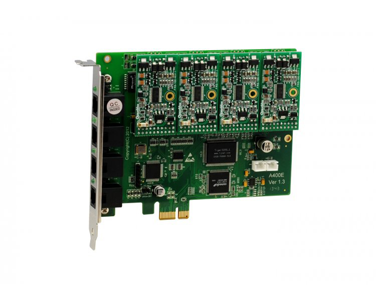 OpenVox A400E40 - 4 FXS PCI Express Card