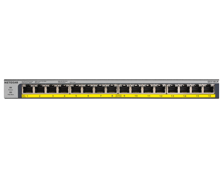 Netgear GS116LP - 16 Port Gigabit Ethernet Unmanaged Switch