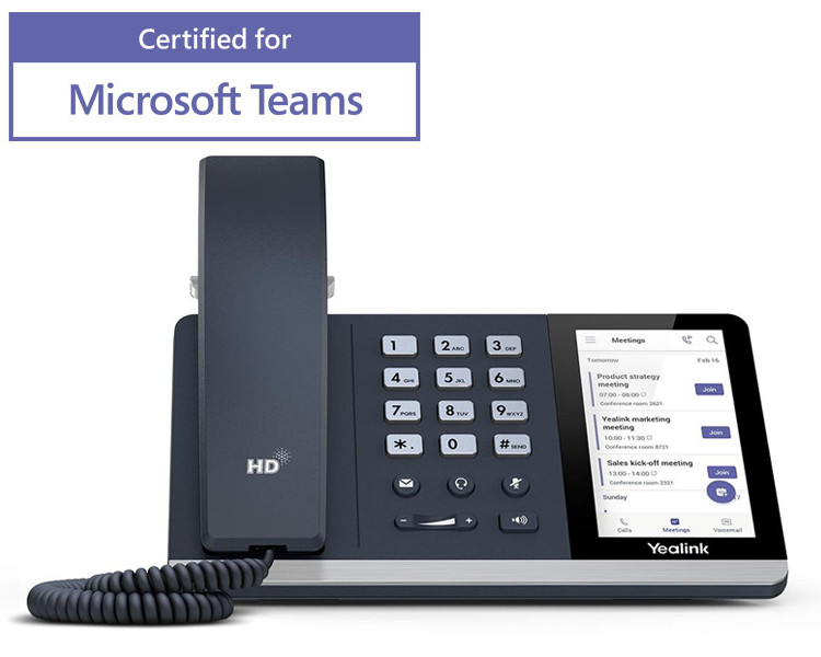 Yealink T55A TEAMS Edition HD IP Phone