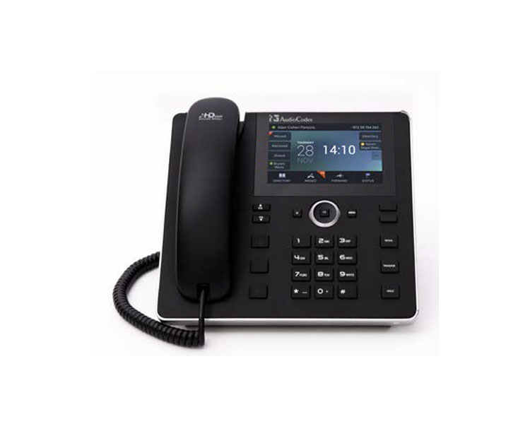 AudioCodes UC450HDEG IP Phone 2 Ethernet 10/100/1000 ports, 800x480 5'' Colour Touch LCD