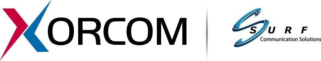 Xorcom and Surf Communications Logos