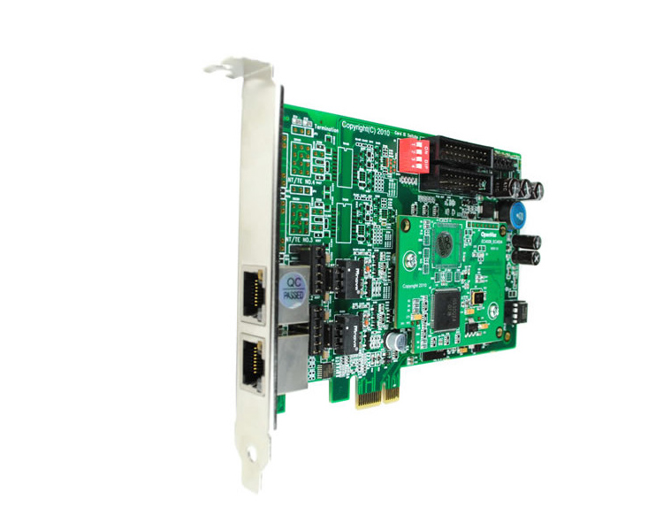 Openvox BE200E 2 Port BRI PCI Express Card w/ Hardware Echo Cancellation