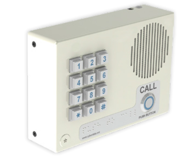 CyberData Singlewire InformaCast-enabled VoIP Indoor Intercom with Keypad (011307)