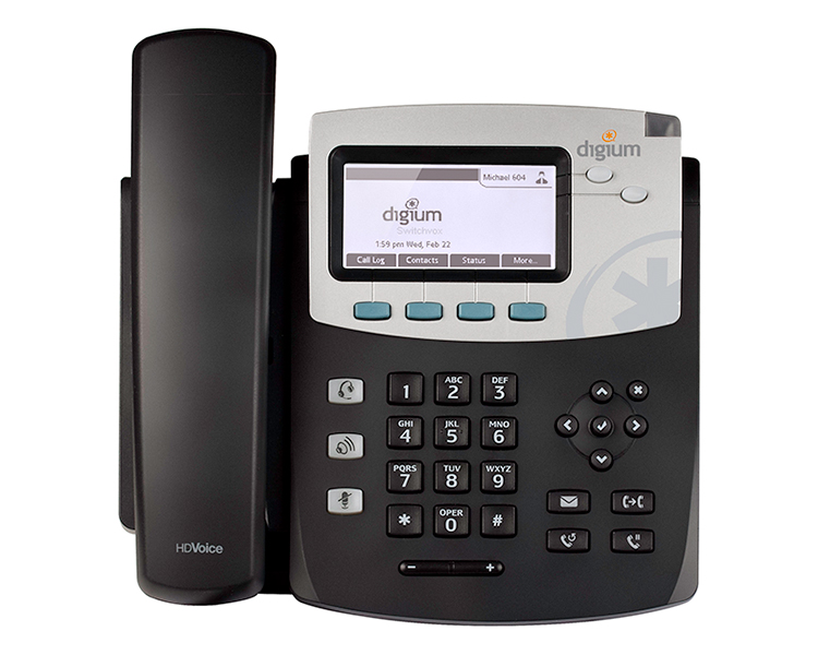 Digium D41 IP Phone with Icon keys