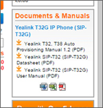 Documents & Manuals Screenshot