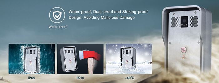 Water-proof, dust-proof and malicious damage-proof