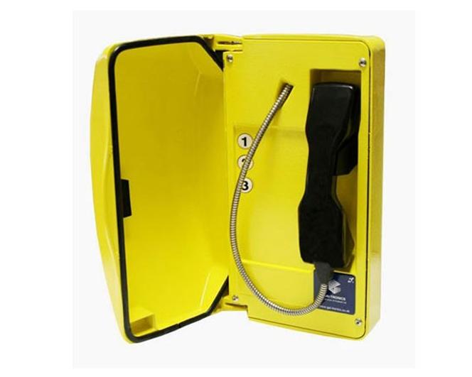 GAI-Tronics Titan SIP Yellow Help Point Phone - 3 on on