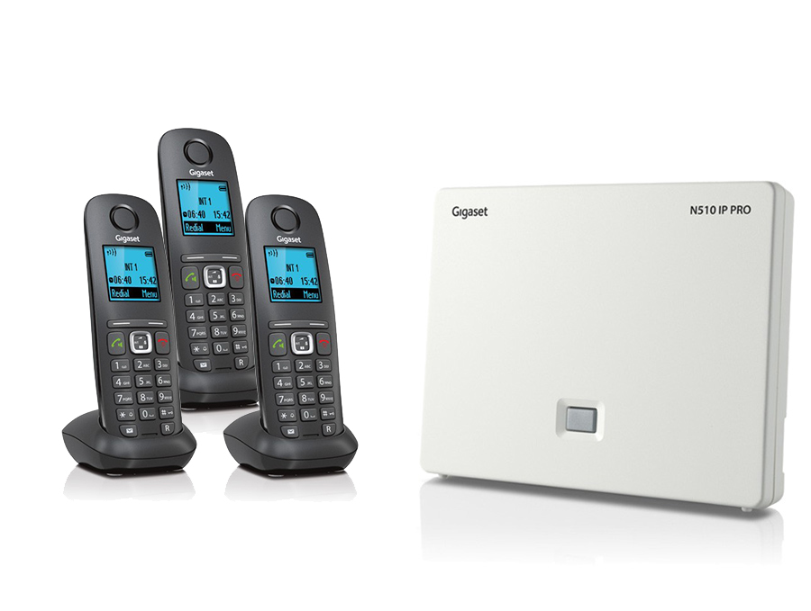 Gigaset N510IP Base Station and Gigaset A540H DECT Phone Bundle - Three Handsets