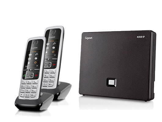 Gigaset N300IP Base Station and Gigaset C430HX DECT Phone bundle - Two handsets