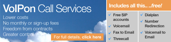 VoiPon Call Services - lower costs, no monthly fees, freedom from contracts, greater control
