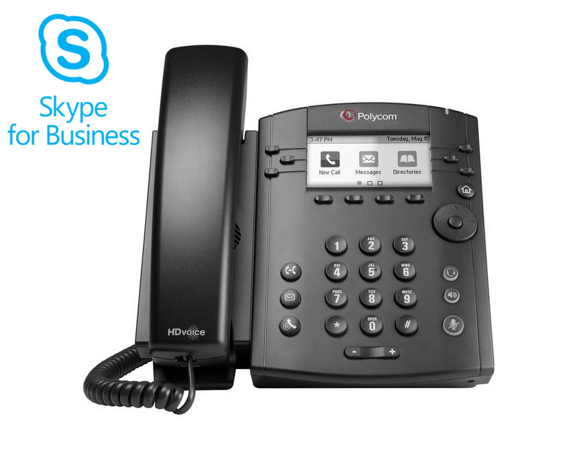 Polycom VVX 310 Skype For Business Edition Gigabit Phone