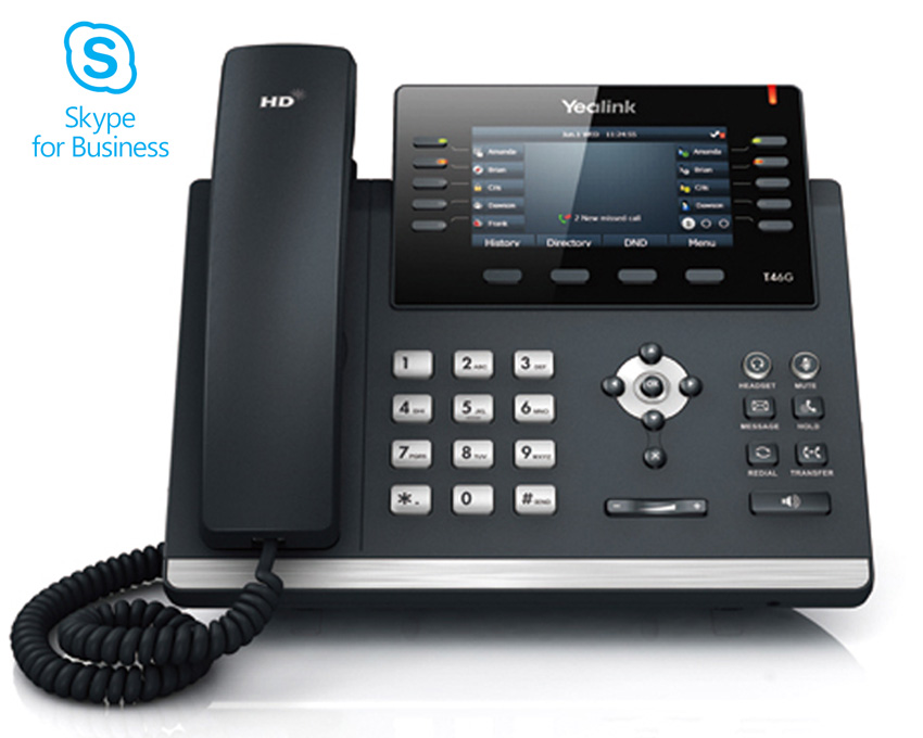 Yealink T46G IP Phone Skype for Business  (SIP-T46G-SFB)