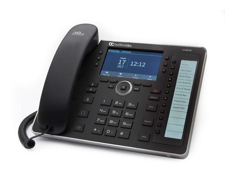 AudioCodes UC445HDEG IP Phone 800x480 5'' Color Touch LCD and Power over Ethernet (PoE)