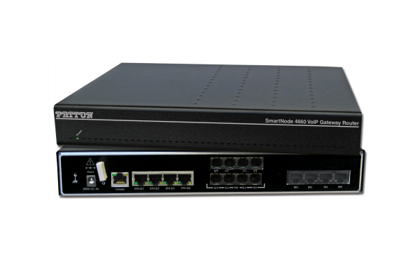 Patton SmartNode 4661 Digital Gateway-Router, 2 BRI, 2 FXS, 2 FXO, 8 VoIP calls; 4 LAN/WAN Ethernet Ports