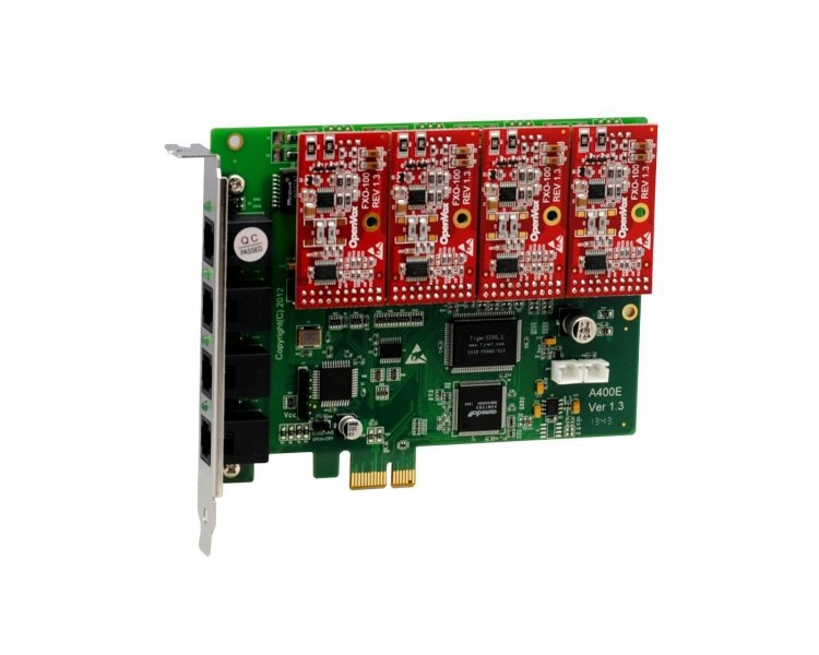 OpenVox A400E04 - 4 FXO PCI Express Card