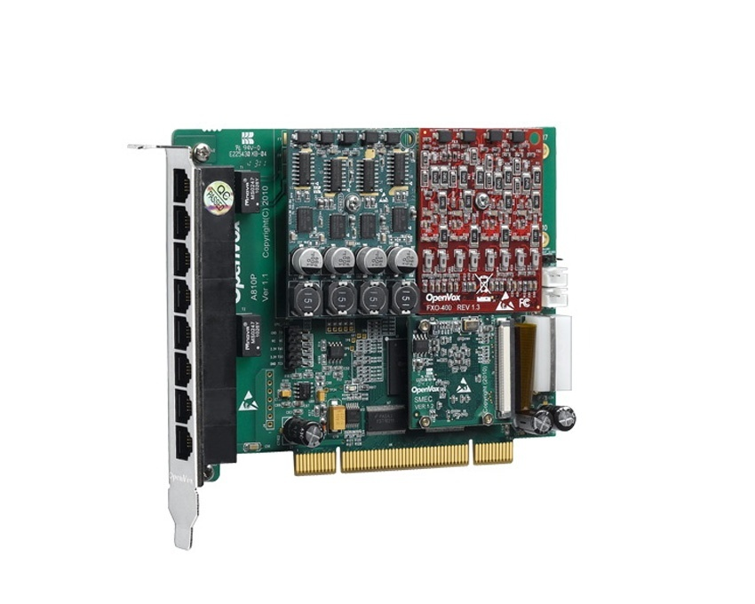 OpenVox A810P PCI Asterisk Analog Card