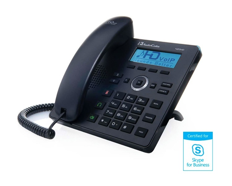AudioCodes 420HD Black IP Phone