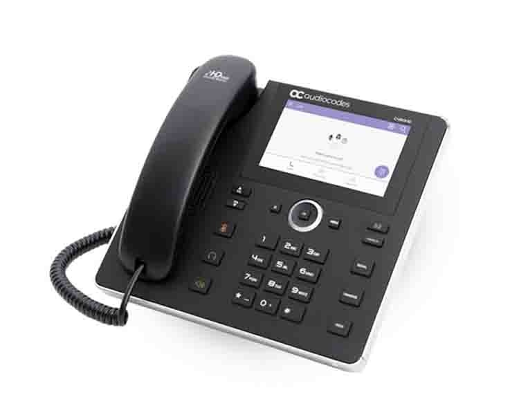 AudioCodes C450HD IP Phone 800x480 5'' Color Touch LCD and Power over Ethernet (PoE) Teams compatible