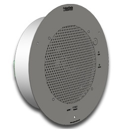 CyberData SIP-enabled VoIP Talkback Ceiling Gray White, Standard Speaker 011180