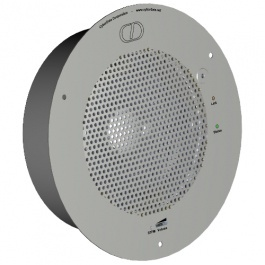 CyberData SIP-enabled VoIP Talkback Ceiling Speaker 011181, RAL 9003, Signal White