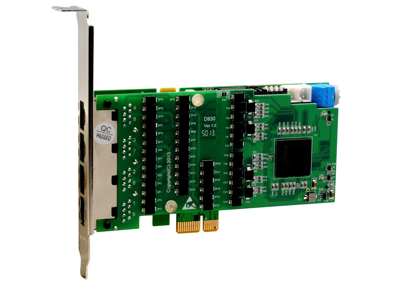 OpenVox DE830E 8 port T1/E1/J1 PCI-E card