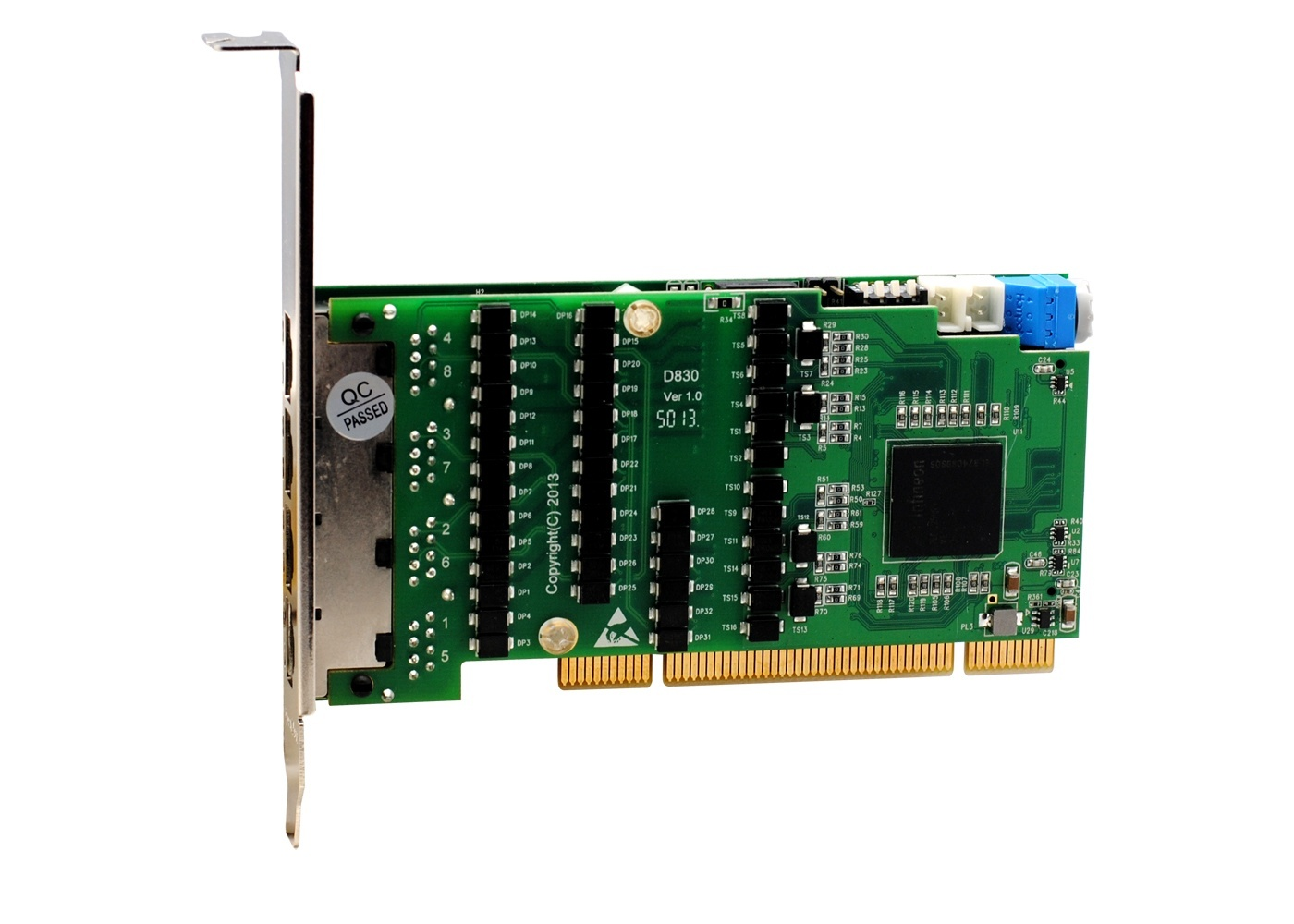 OpenVox DE830P 8 port T1/E1/J1 PCI card
