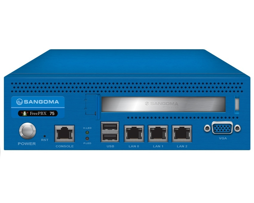 Sangoma FreePBX Phone System 75 - 75 users or 45 calls