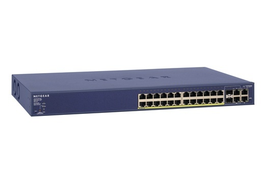 Netgear Prosafe FS728TP 24-Port 10/100 Smart Switch with 4 Gigabit Ports and 24 POE Ports