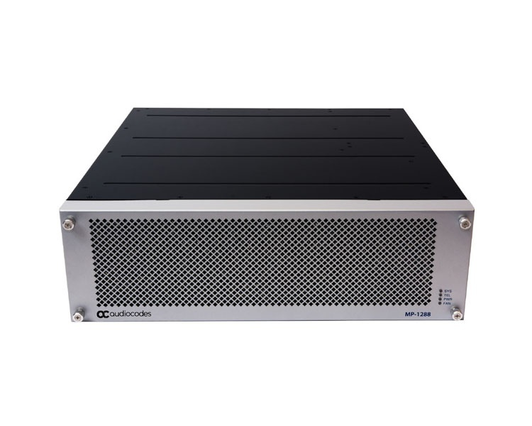 AudioCodes MediaPack MP-1288 high density analog gateway with 144 FXS ports and dual AC power supply