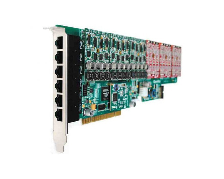 OpenVox A2410P01 24 Port Analog PCI card + 1 FXO400 module