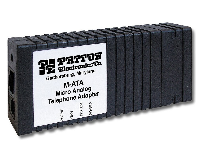 Patton M-ATA-1A/EUI Micro Analog Telephone Adapter;1 x FXS RJ11; 1