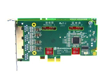 Sangoma B500 1 Module – 2 BRI Ports – 4 B-Channel PCIe + Echo Cancellation
