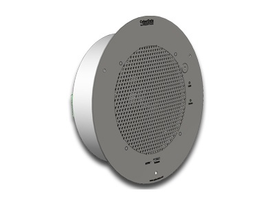 CyberData Singlewire-Enabled Talk Back Speaker - Gray White (011182)
