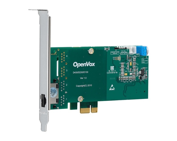 OpenVox D130E 1 Port PCI Express ISDN PRI Card