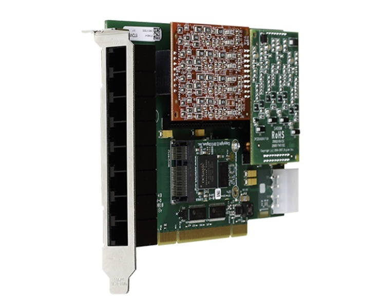 Digium 1A8A00F 8 port modular analog PCI 3.3/5.0V card, no interfaces