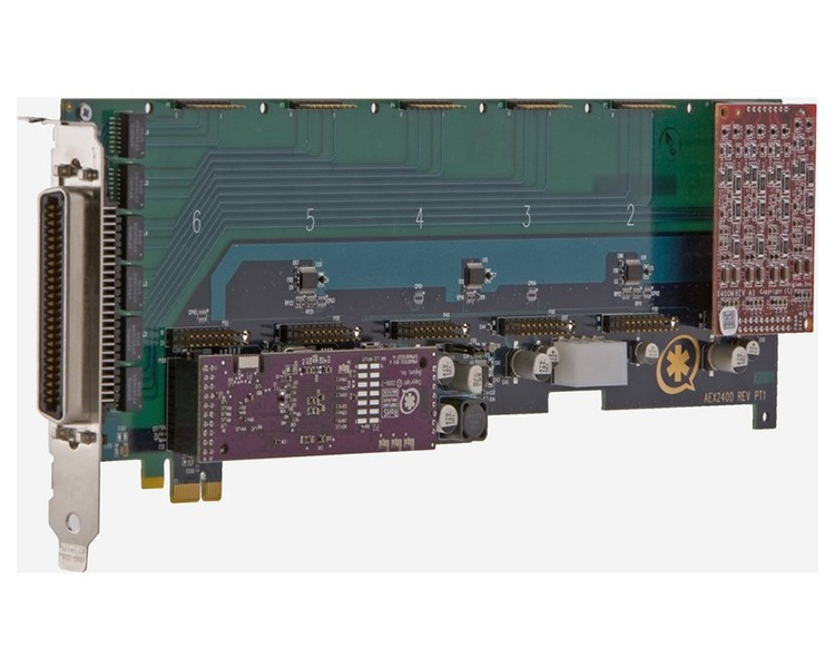 Digium 1AEX2400ELF 24 port modular analog PCI-Express x1 card, no interfaces and HW Echo Can