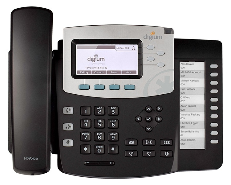 Digium D51 IP Phone with Icon keys