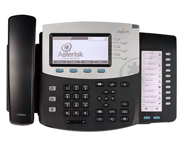 Digium D71 IP Phone with Icon keys