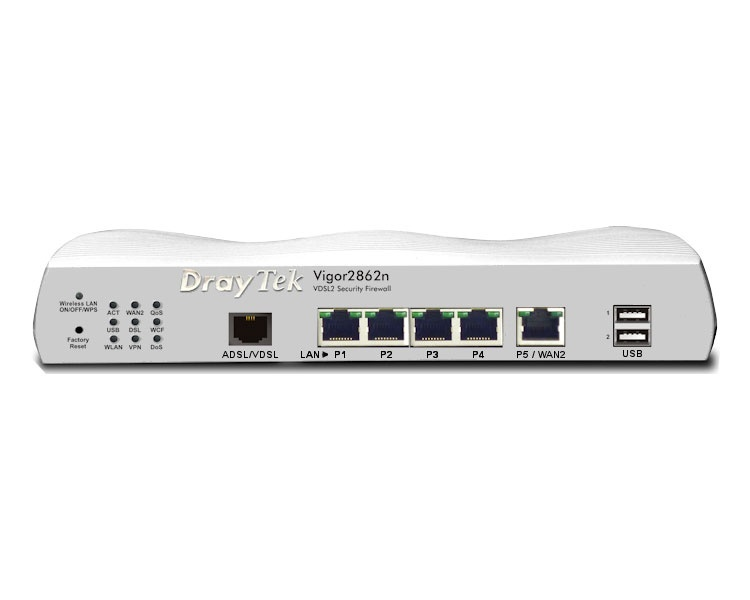 DrayTek Vigor 2862n Router with 802.11n Wireless