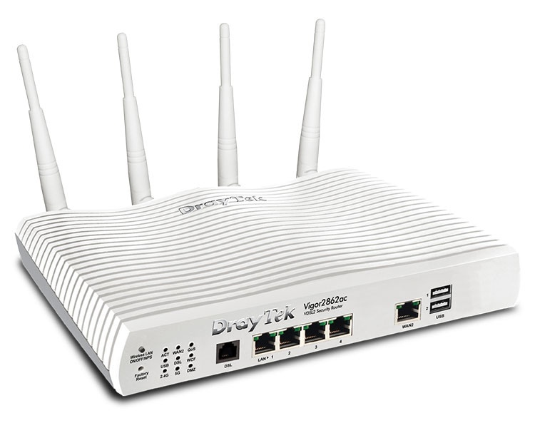 DrayTek Vigor 2862ac Router with 802.11ac Wireless