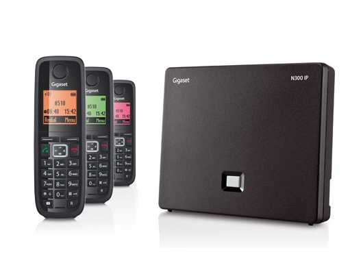Gigaset N300IP DECT Base Station & Gigaset A510H Cordless DECT Phone - Three Handsets Bundle