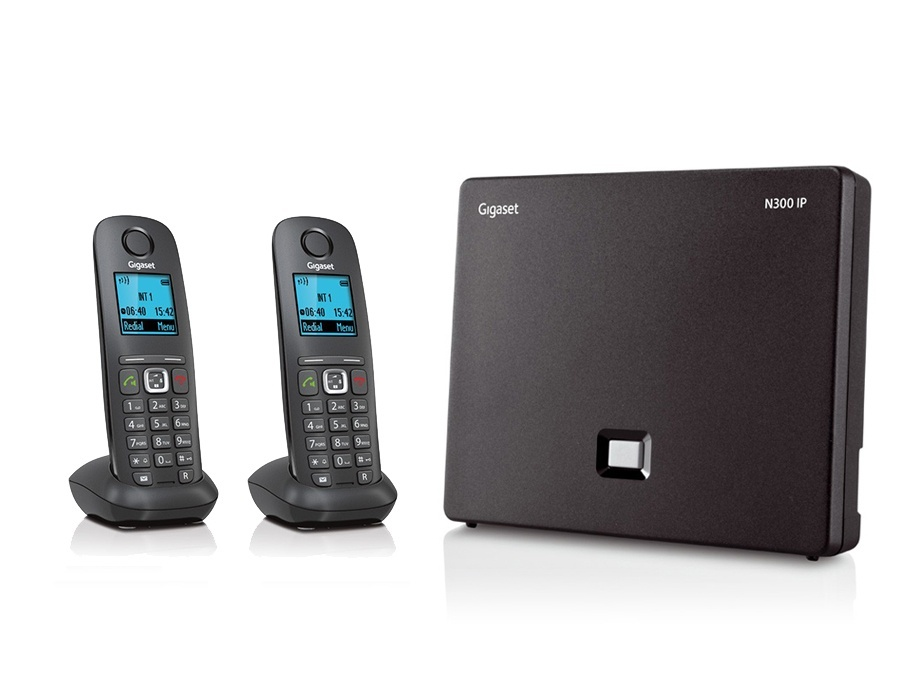 Gigaset N300IP Base Station and Gigaset A540H DECT Phone Bundle - Two Handsets