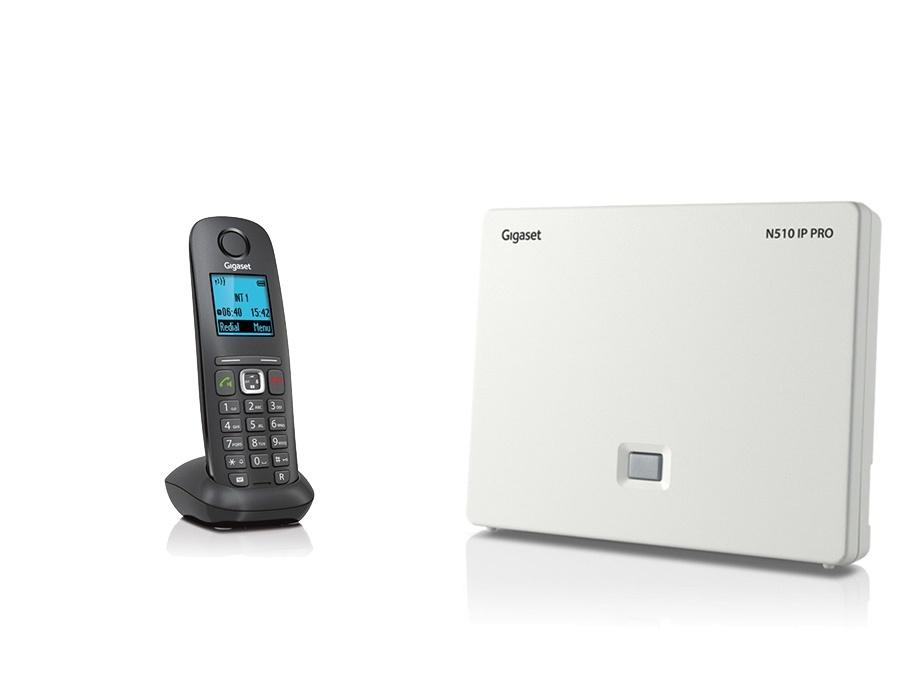 Gigaset N510IP Base Station and Gigaset A540H DECT Phone Bundle - One Handset